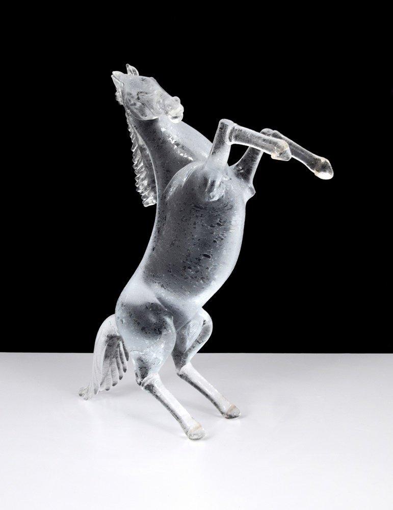 Large Pino Signoretto Horse Sculpture, Murano - 6