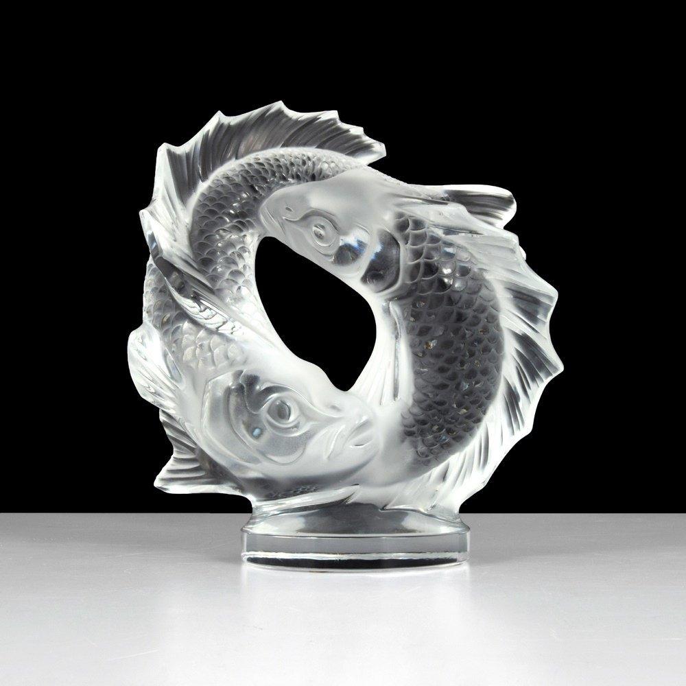 Lalique DEUX POISSONS Sculpture