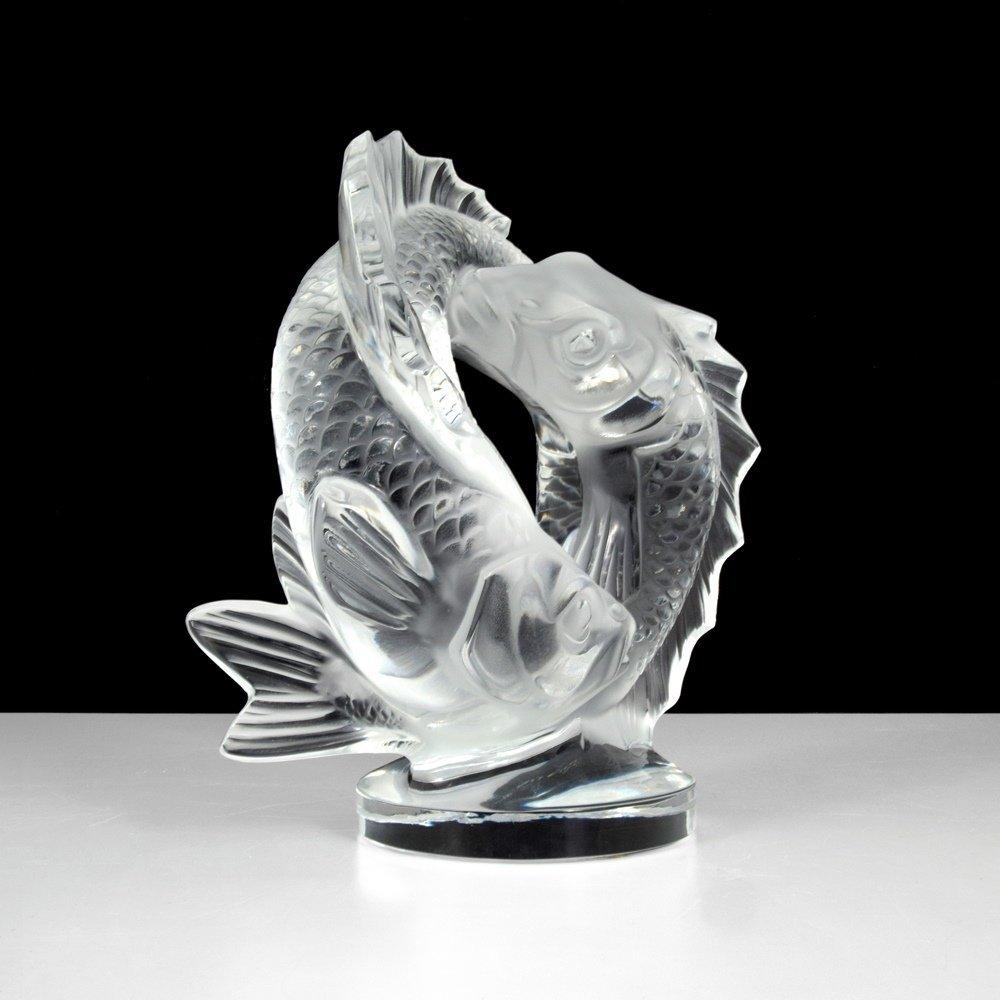 Lalique DEUX POISSONS Sculpture - 4