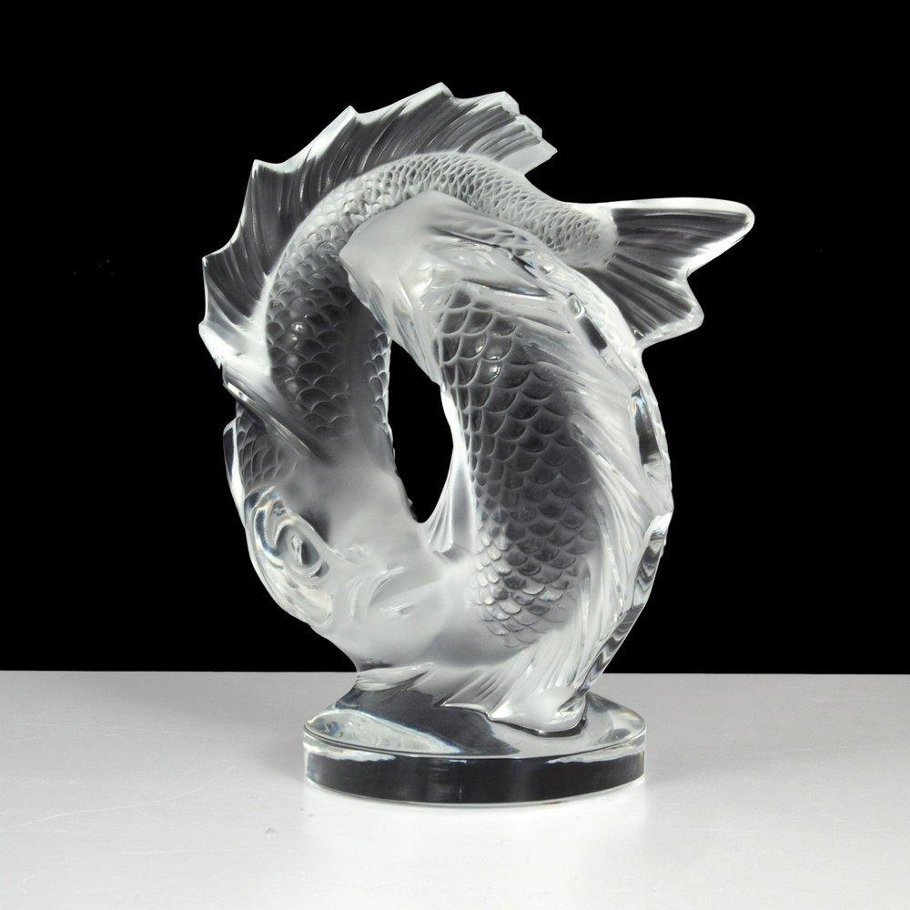 Lalique DEUX POISSONS Sculpture - 5