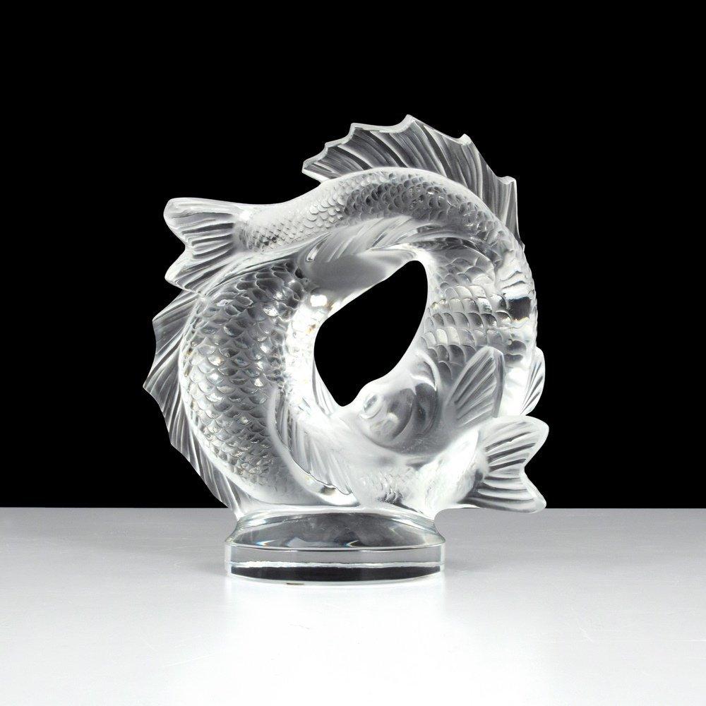 Lalique DEUX POISSONS Sculpture - 6