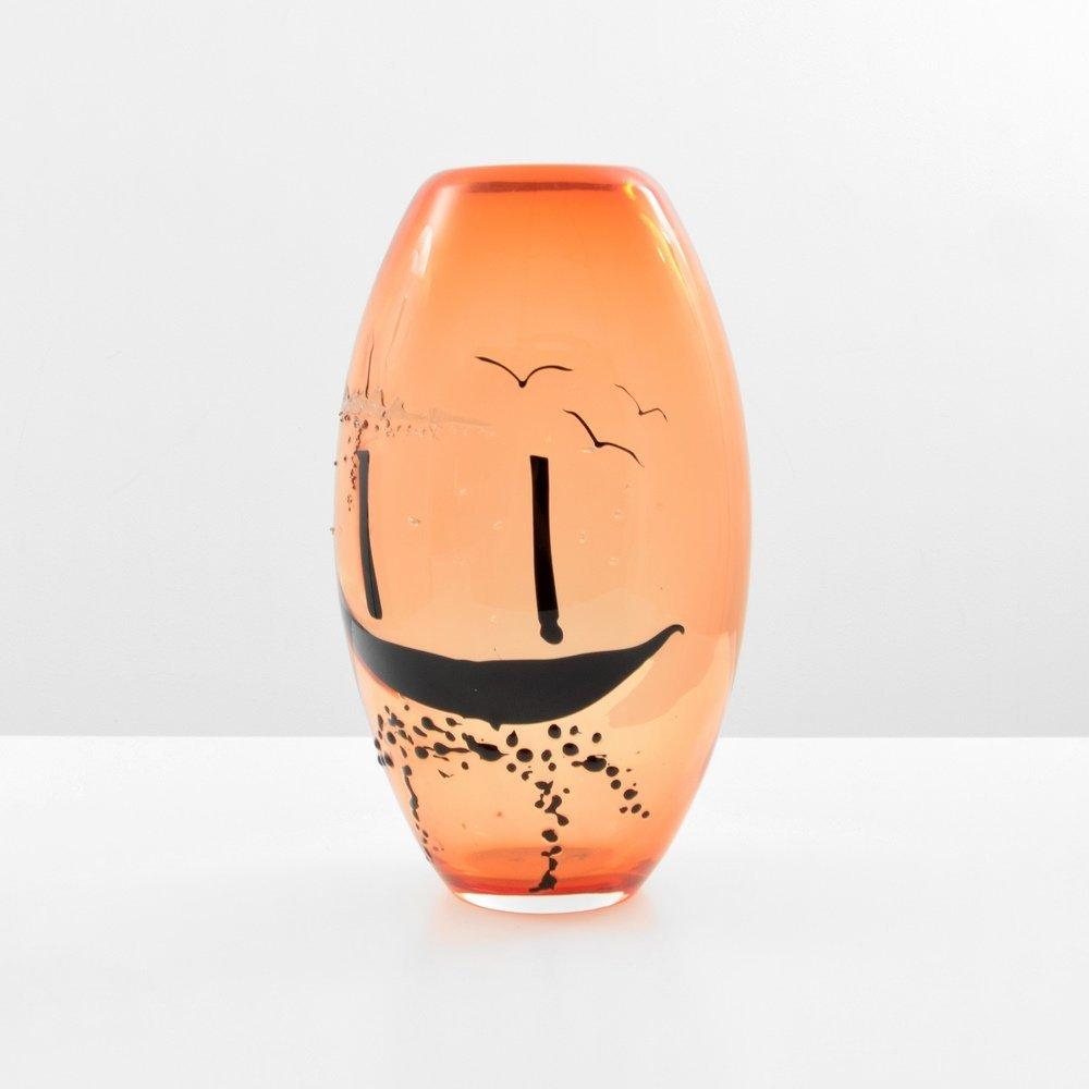 Rare Fulvio Bianconi Vase with CON MACCHIE Decoration