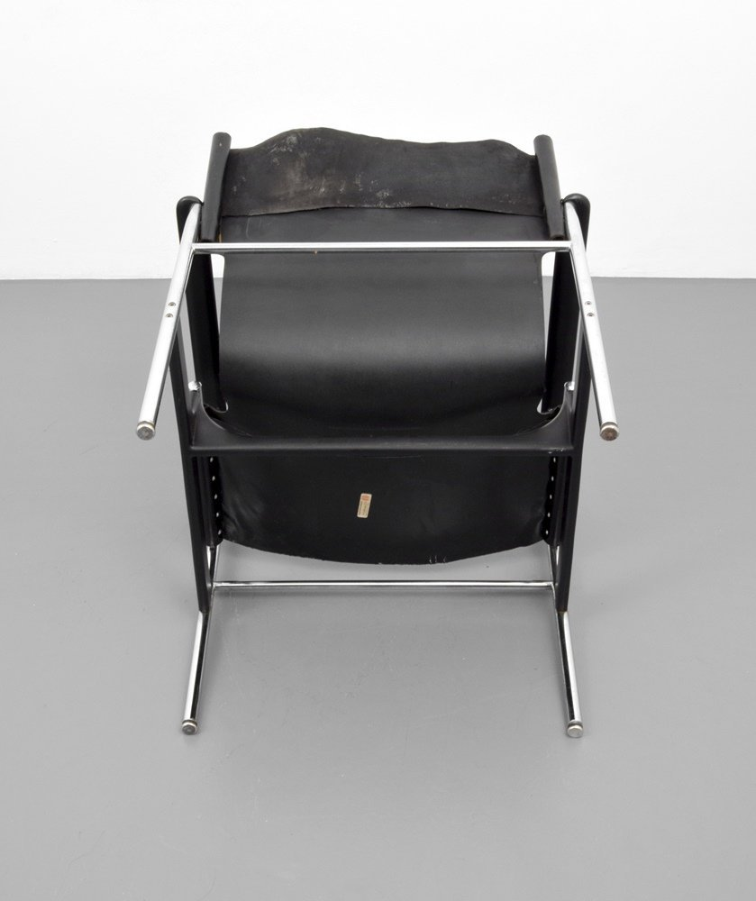 Pair of Charles Pollock SLING Lounge Chairs - 2