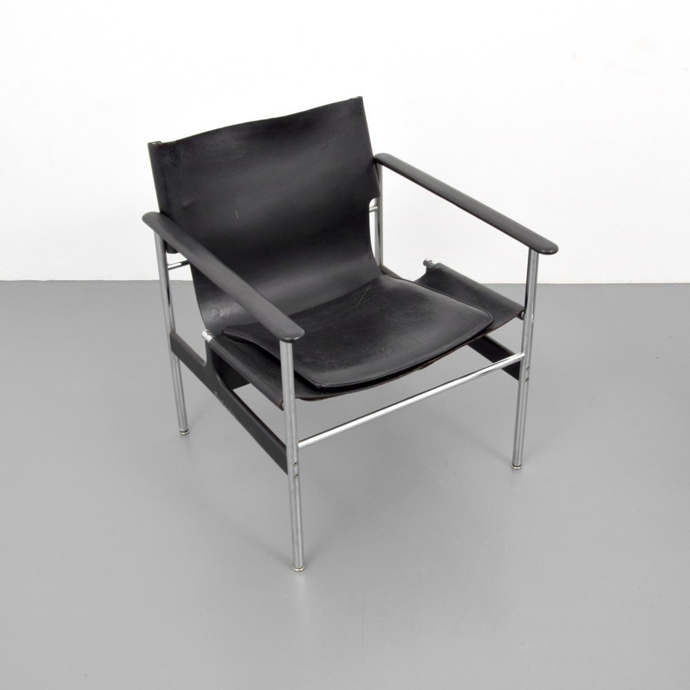 Pair of Charles Pollock SLING Lounge Chairs - 3