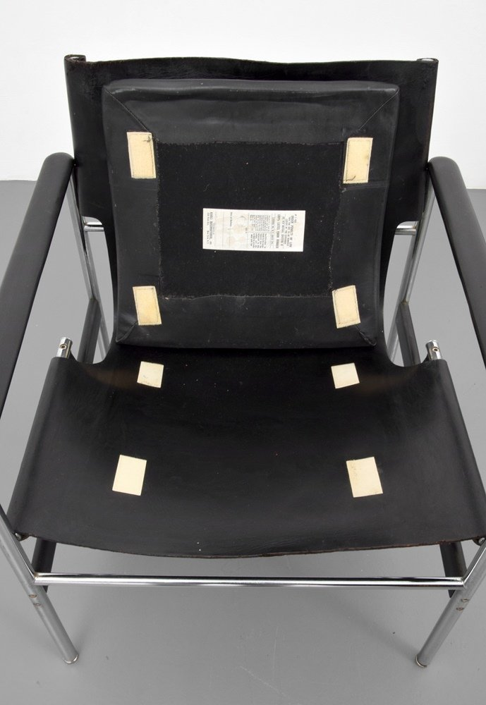 Pair of Charles Pollock SLING Lounge Chairs - 6