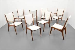 Vladimir Kagan SHIELD Back Dining Chairs, Set of Eight