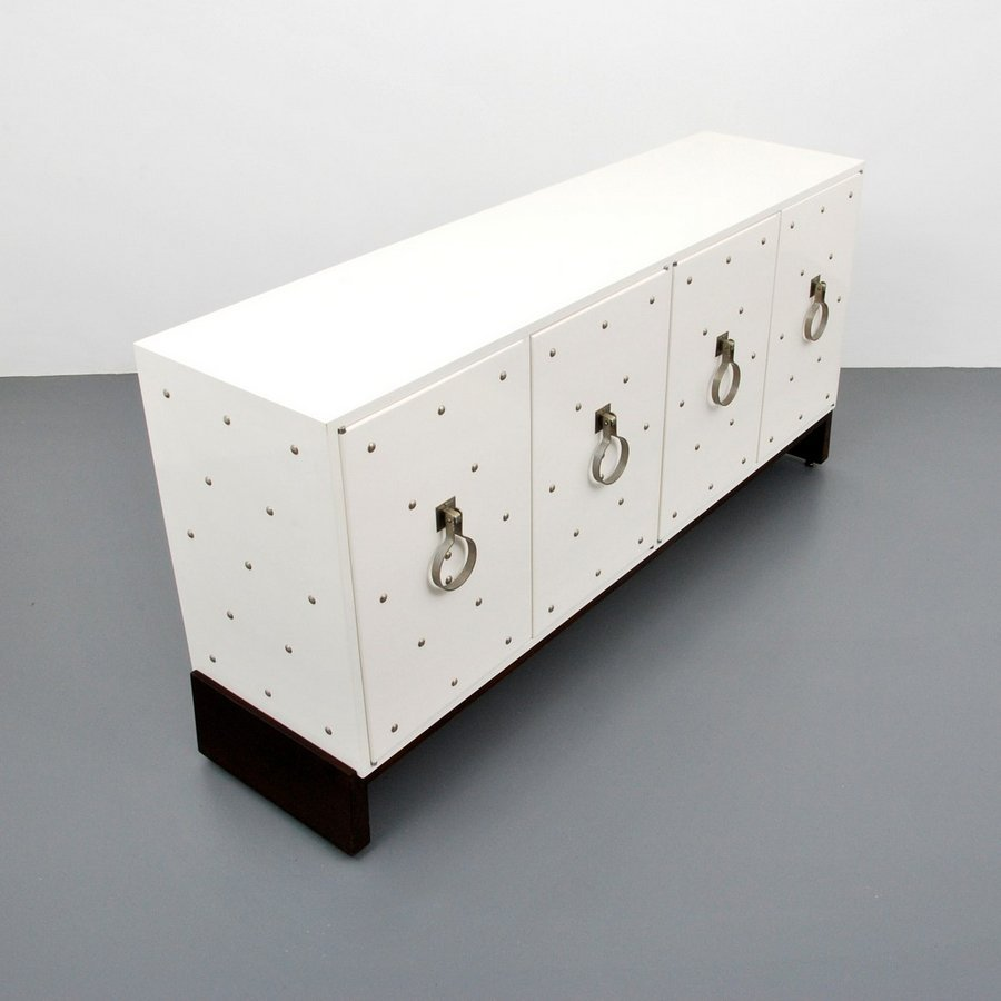 Tommi Parzinger Silver Studded Cabinet - 2