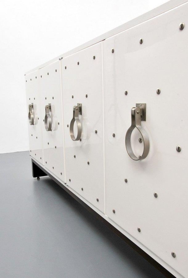 Tommi Parzinger Silver Studded Cabinet - 3
