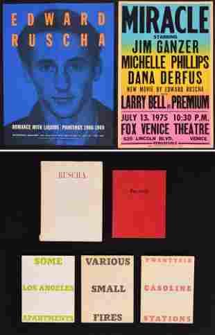 Edward Ruscha, Set of 5 Books & 2 Posters