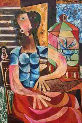 Mario Carreno Painting, Original Work