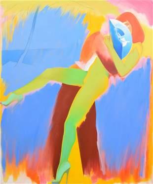 Large Allen Jones Painting, Original Work