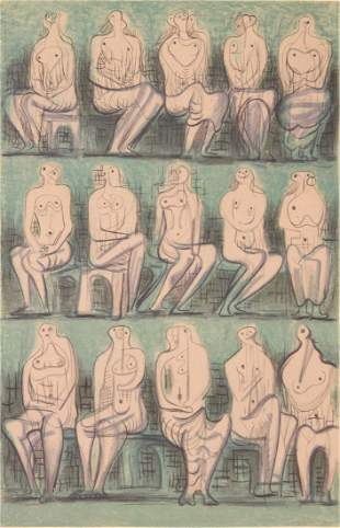 Henry Moore Lithograph, Signed Edition