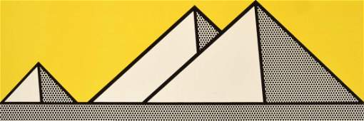 Roy Lichtenstein PYRAMIDS Lithograph, Signed Edition