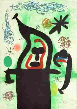 Joan Miro Etching / Aquatint, Signed Edition