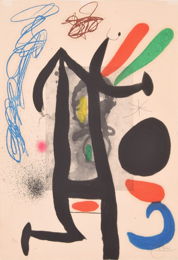 Joan Miro Aquatint LA PRESIDENTE, Signed Edition