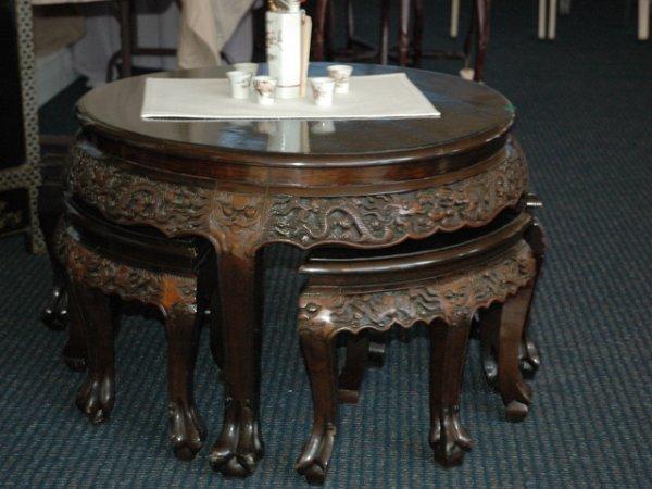 16: Japanese Cherrywood Claw Foot Tea-Table