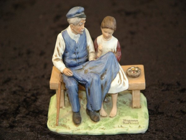 65: Norman Rockwell Ceramic Cast Sculpture