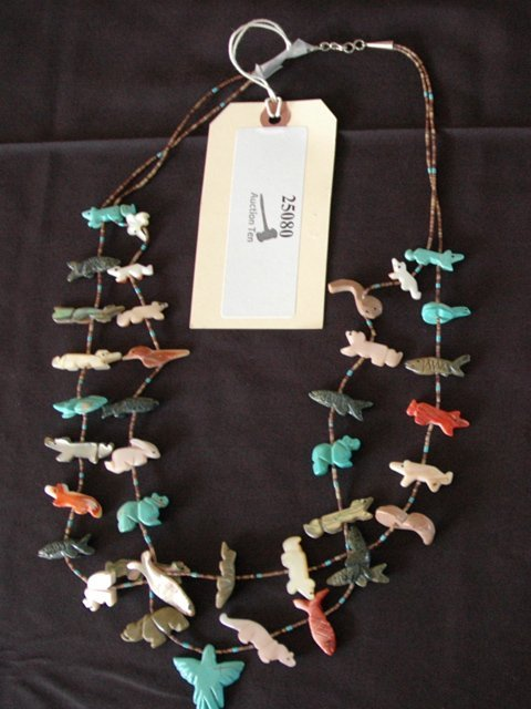 7: Large Native American Fetish Necklace