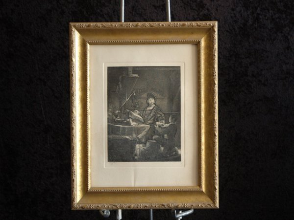 10: Hand Pulled Etching (After Rembrandt),
