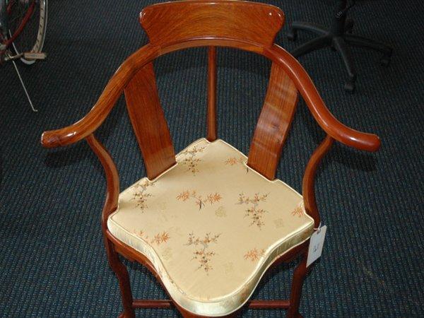 17: Antique Japanese Mahogany Corner Chair