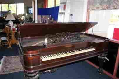 75: Antique Chickering Piano c. 1866