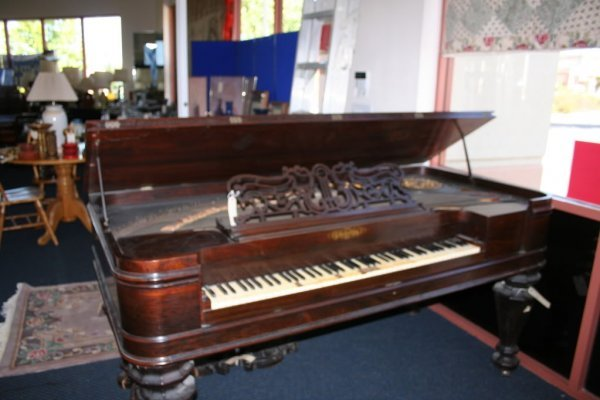 75: Antique Chickering Piano c. 1866