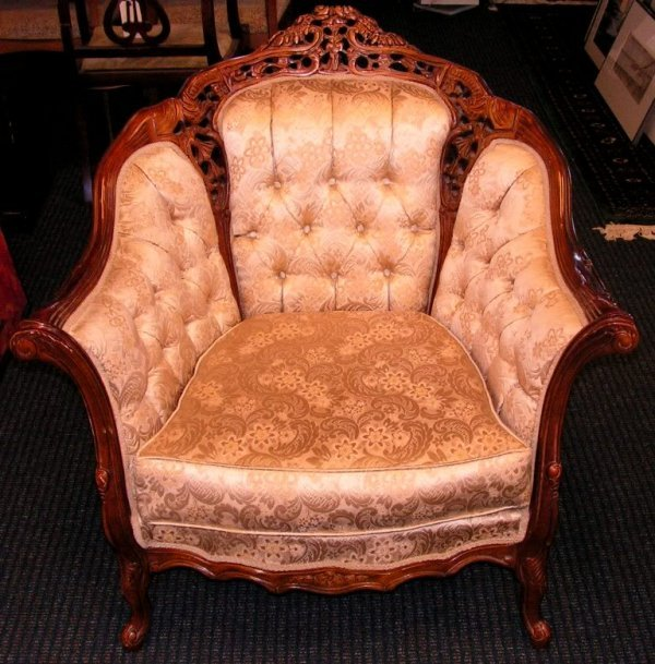 8: Vintage Victorian Mahogany Hand Carved Kings Chair