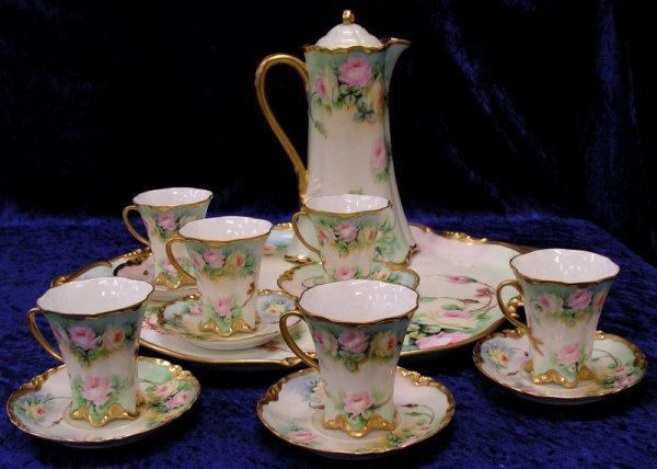 180: Vintage Porcelain Limoges Tea Set Haviland France