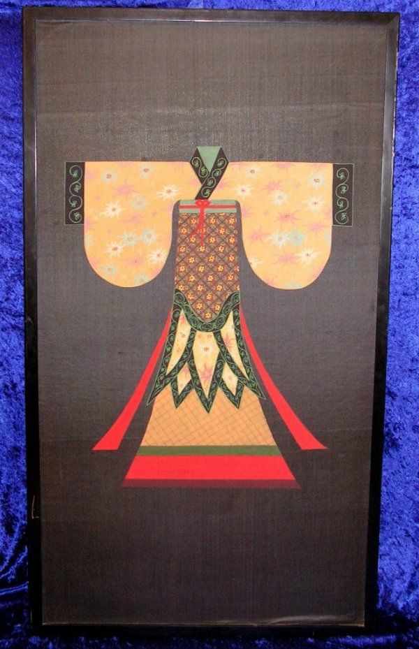 1: Silk Watercolor Painting Ching Dynasty China