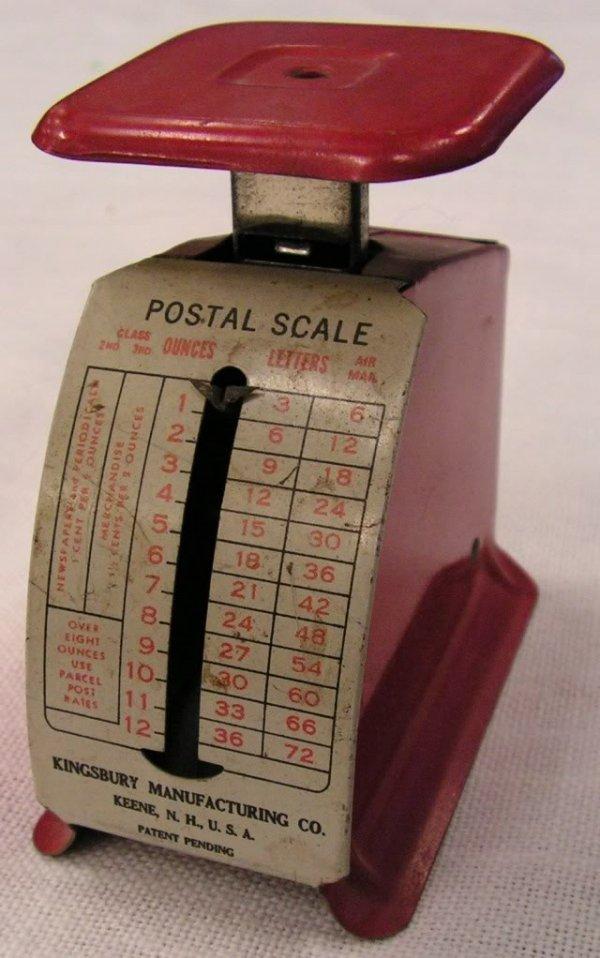 19: Antique Americana Postal Scale Kingsbury c 1930