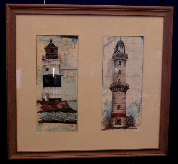 "20: Art Lighthouse Print Americana . 31.5"" x 33.5"""