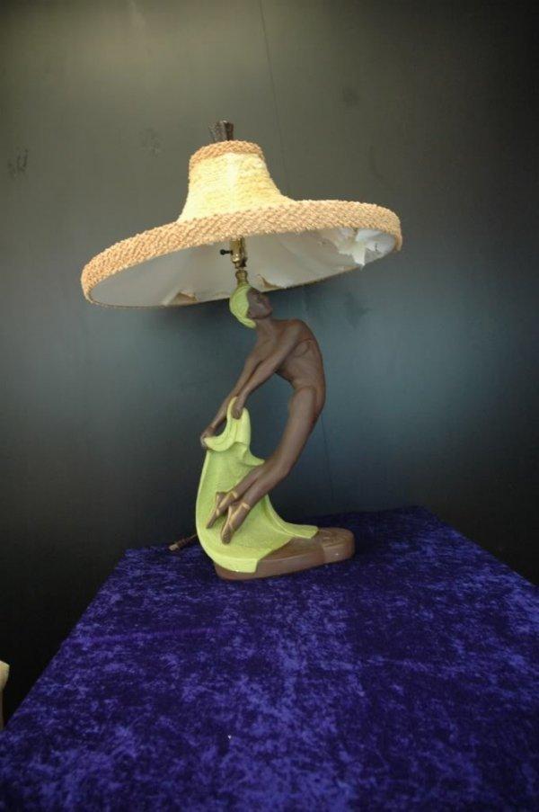 36: Art Deco Ceramic Continental Nude Table Lamps 1952