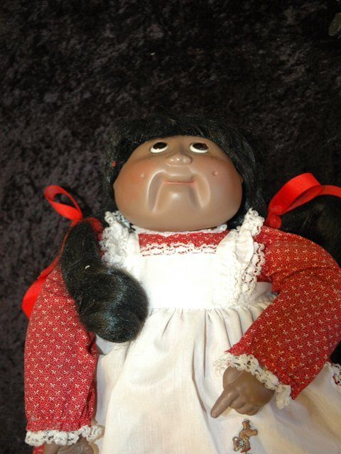 234: Black Cabbage Patch Doll with Porcelain Face