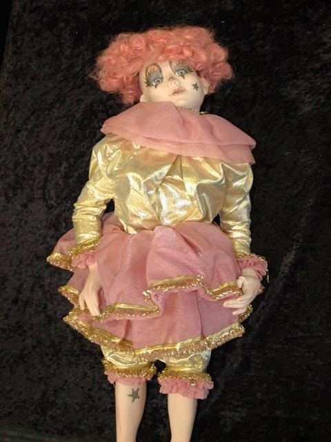 236: Porcelain Court Jester Doll