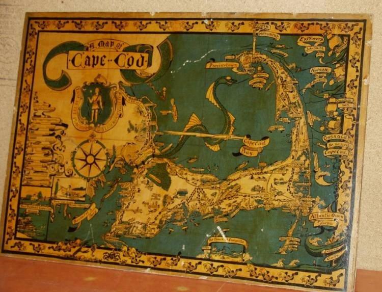 2: Vintage Cape Cod Map by Melania E. Leonard Fecit