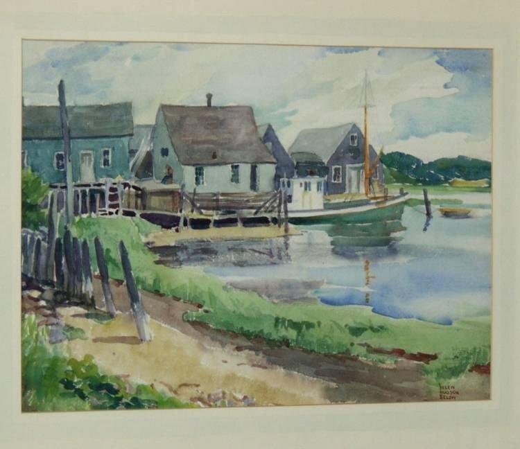 7:  Helen Hudson Brown Watercolor Painting