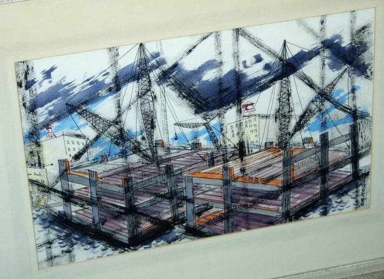 15: Robert Krieg Painting