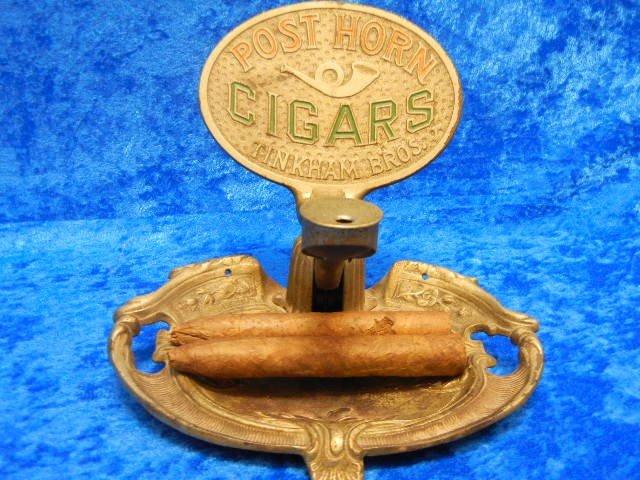 26206: 1902 Patented Brass Cigar Roller Tinkham Bros