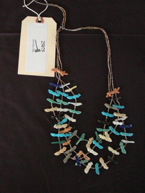 8: Native American Navajo Fetish Necklace
