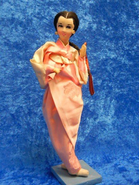 3: Vintage Geisha Doll with Silk Kimono