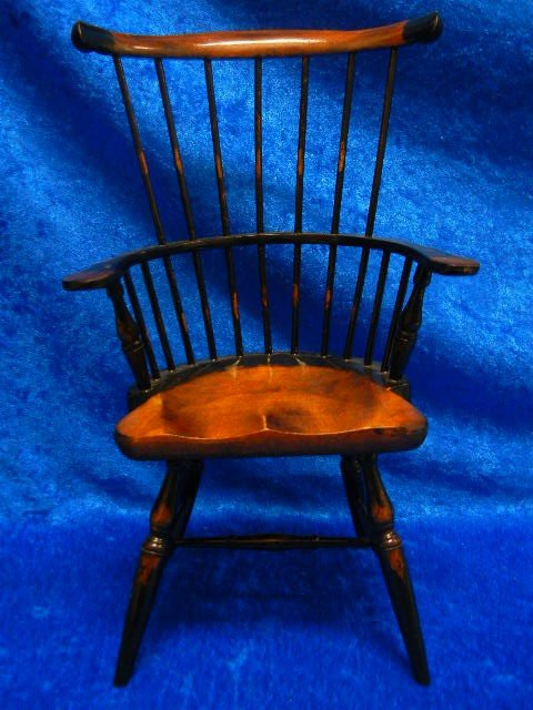18: Vintage Wooden Doll Toy Chair