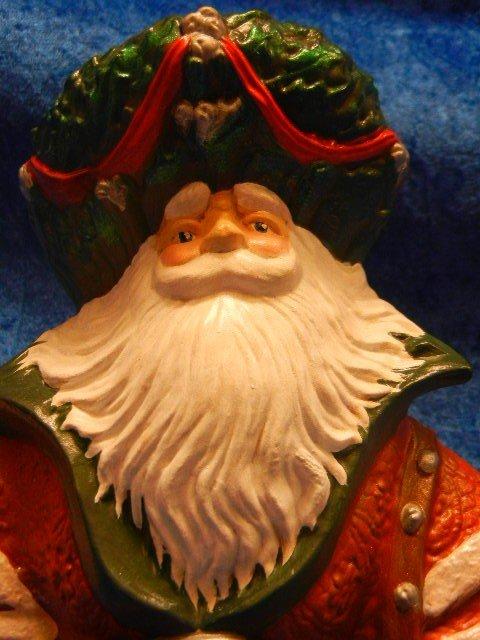 33245: Large Ceramic Santa Claus Holding A Lantern - 3