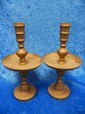 2: 02: Vintage Brass Candle Holders Set of 2