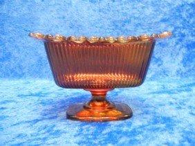 7: 7: Lovely Orange 1981 Glass FTDA Vase