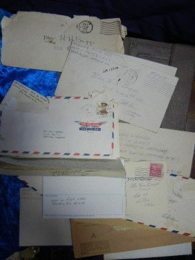 21: 21: MILITARY LOT LETTERS 1922 TO 1963 FROM SHIP AT