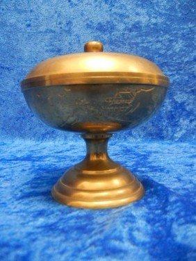10:  Vintage Japanese Bronze Pot with Lid