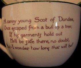 "189:  Fenton Beardmore Porcelain ""Scot of Dund - 2"
