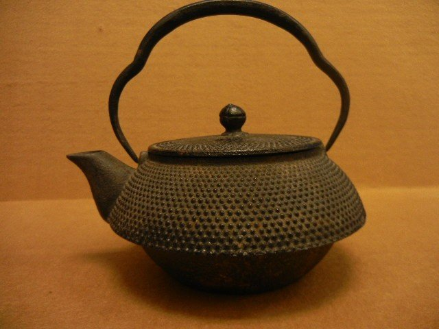 33381: 33381: Antique Asian Metal Tea Pot