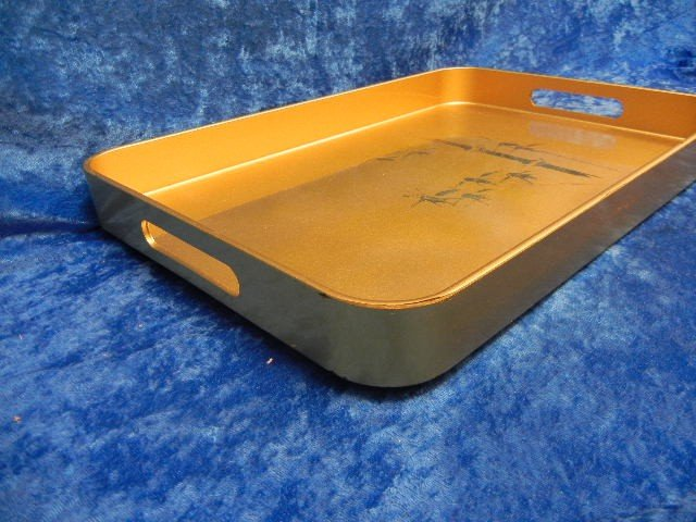 23:  Asian Japanese Laquer Gold Tray