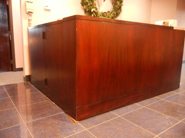 4: Vintage Mahogany Front Reception Desk